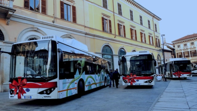 autobus elettrici in Novara, Italy