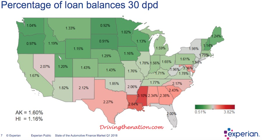 Top 10 States With the Highest Auto Loan Delinquencies