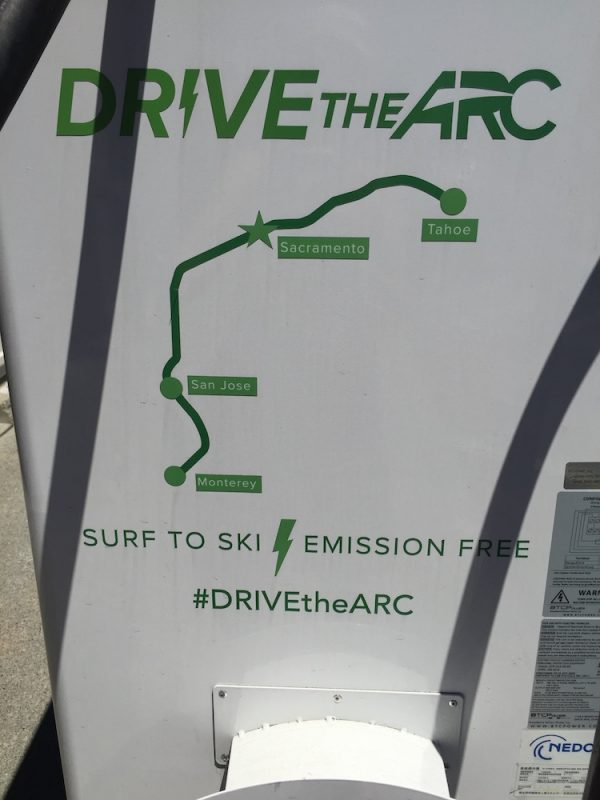 DrivetheARC charge Nissan Leaf for free