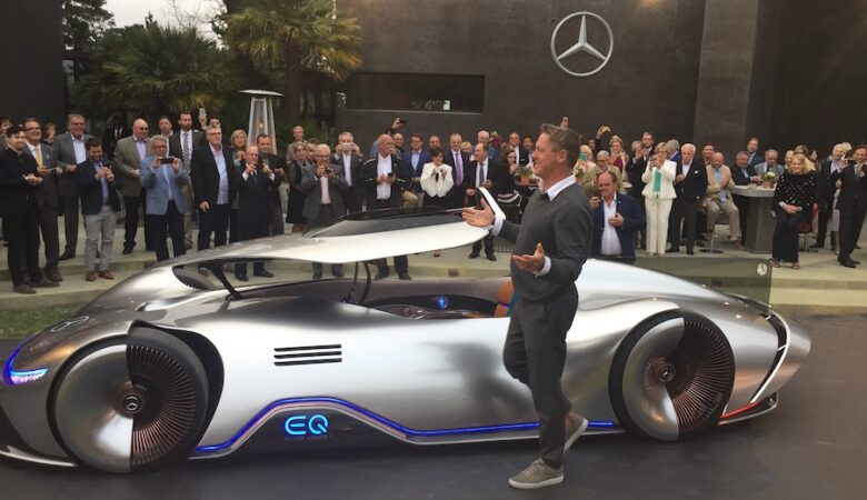 Mercedes-Benz EQ Silver Arrow concept electric supercar beautiful