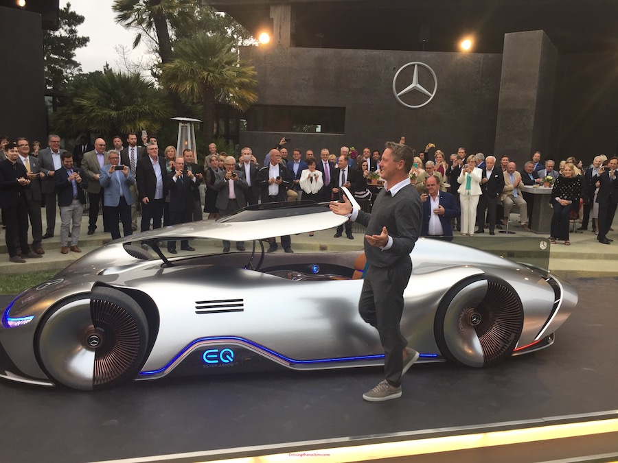 Mercedes-Benz EQ Silver Arrow concept electric supercar beautiful