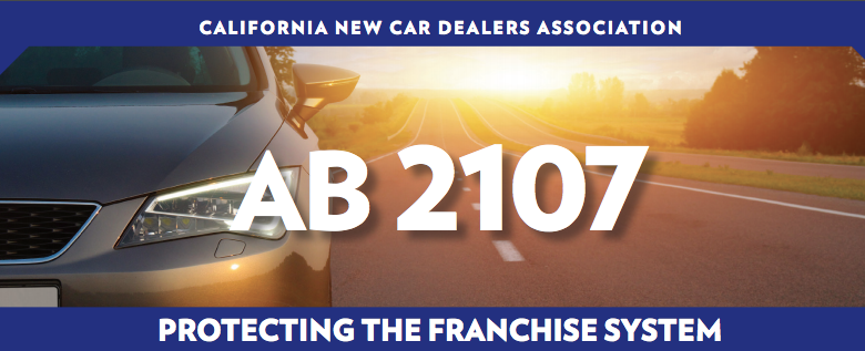 California New Car Dealers Association franchise laws