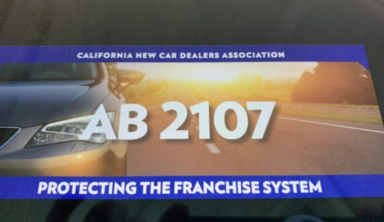 California New Car Dealers Association franchise laws