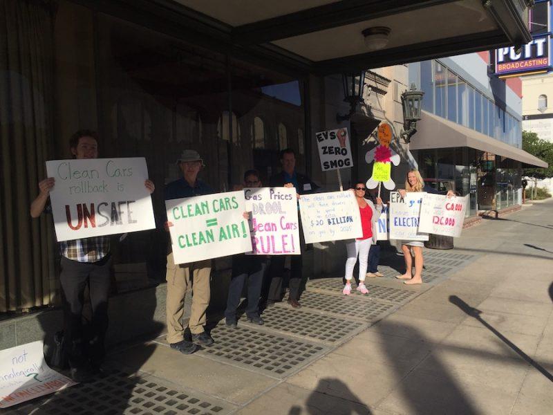 NHTSA, EPA hearing on easing pollution limits