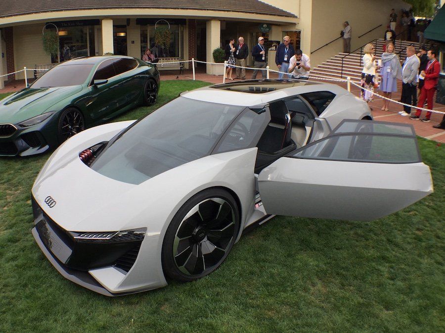 e-tron electric vehicle (EV), which was recently launched officially in California