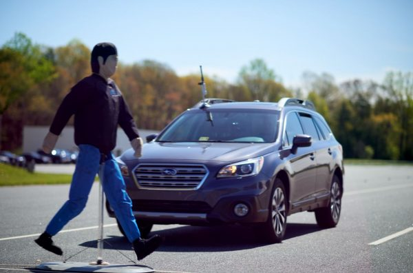 Automatic emergency braking systems on some vehicles can detect and brake for pedestrians