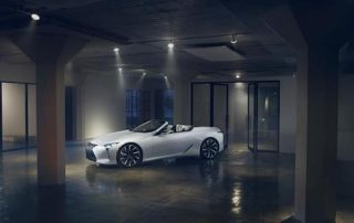 World debut of the Lexus LC topless concept at NAIAS
