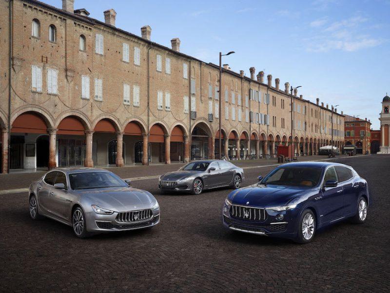 2019 Maserati Left to Right_Ghibli_Quattroporte_Levante