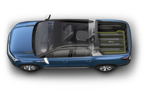 Volkswagen Tarok Concept long - VW Tarok pickup concept brings a versatile bed to New York International Auto Show