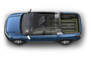 Volkswagen Tarok Concept longer - VW Tarok pickup concept brings a versatile bed to New York International Auto Show