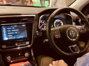 MGZSEV-interior-300x225 MG ZS EV SUV debuts at the London Motor Show London Motor Show MG