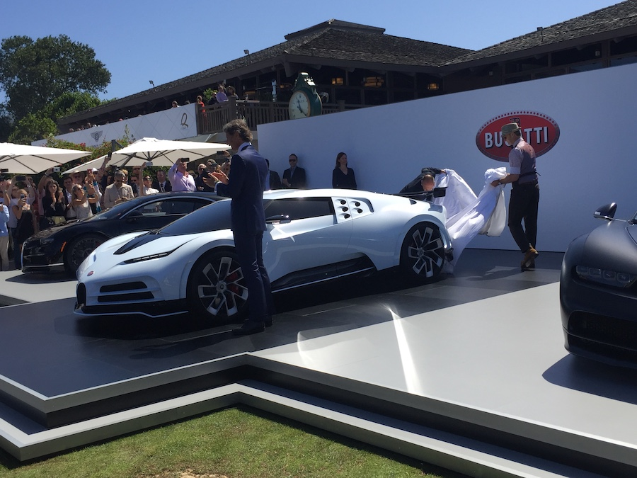 Bugatti reveals $10 million Centodieci at the Quail Lodge