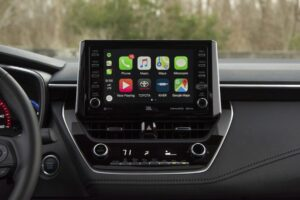 The base model 2020 Corolla is equipped with a 7-inch touchscreen
