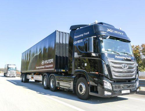 Hyundai Autonomous truck Xcient on Korean highway