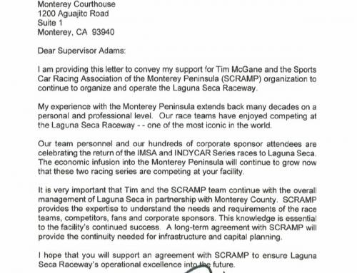 Roger Penske and Mario Andretti support Laguna Seca SCRAMP