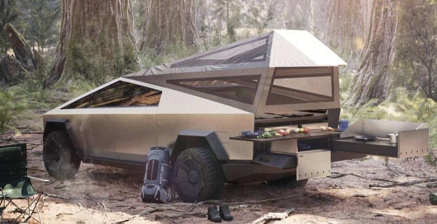 tesla-cybertruck-camping- Mad Musk and the Tesla Cyborg's Cybertruck California Tesla