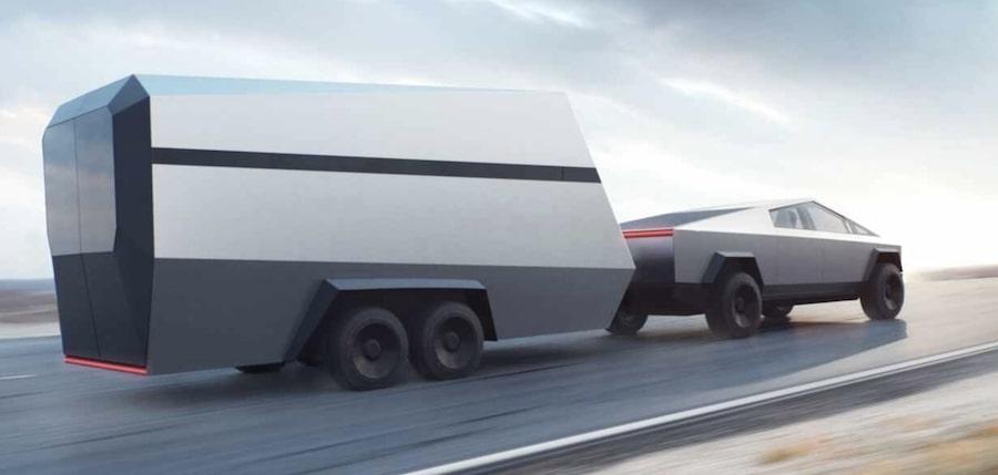 tesla-cybertruck-hauling Mad Musk and the Tesla Cyborg's Cybertruck California Tesla