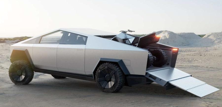 tesla-cybertruck-payload Mad Musk and the Tesla Cyborg's Cybertruck California Tesla