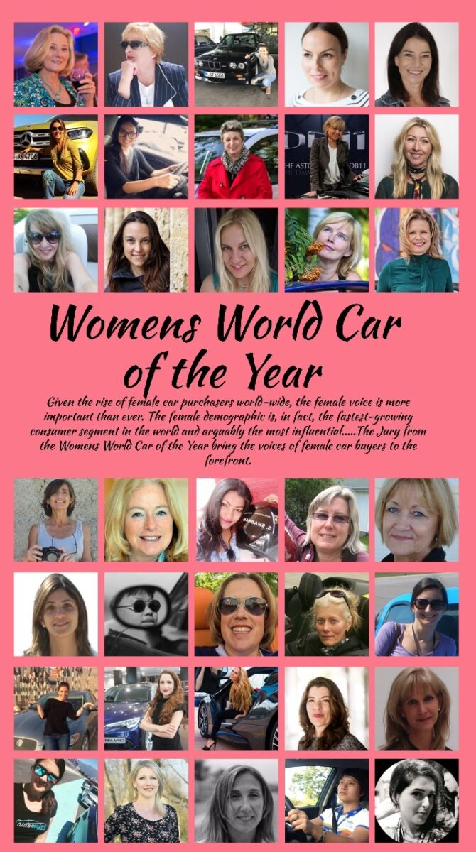 Women's World Car of the Year winners WWCOTY