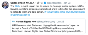 ghosn-HR-tweet-300x119 Carlos Ghosn - Freedom of Speech Automotive executives Politics