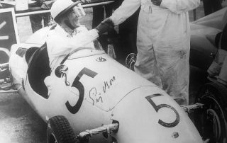 Sir Stirling Moss and Alfred Moss from the Sports Car RAcing book by H.F. Ullman