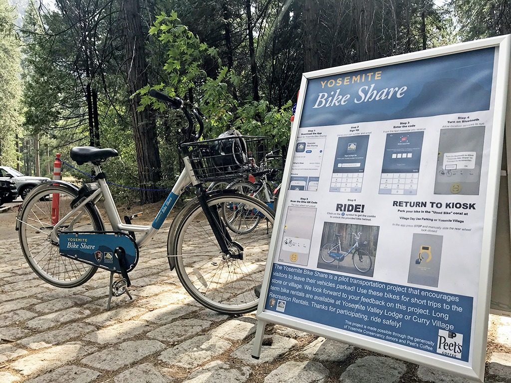 Park your car at Yosemite and bikeshare