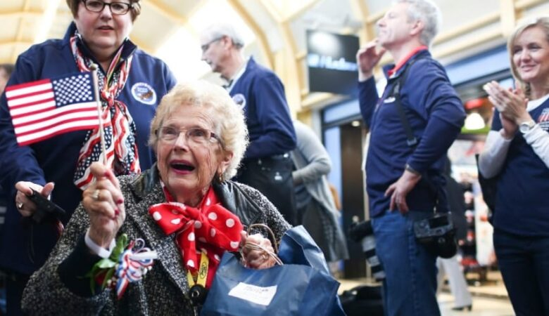 Rosie the Riveters visit the World War II Memorial Ford is celebrating dozens of original Rosie the Riveters with a special Honor Flight to Washington, D.C., to visit the World War II Memorial and luncheon on Capitol Hill.