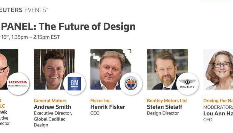 Reuters automotive summit car designer panel - the future of car design